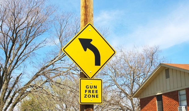 20003767 - road sign stating gun free zone