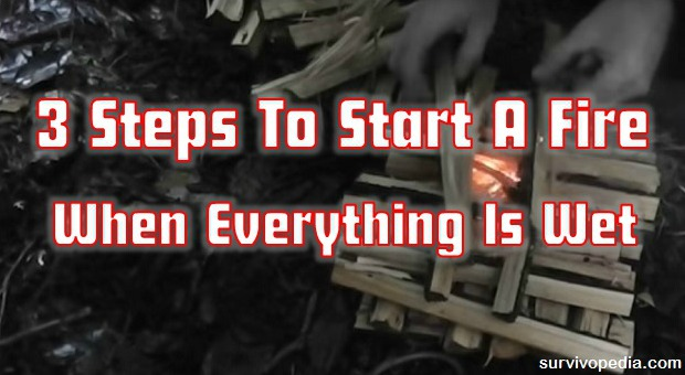 3 Steps To Start A Fire When Everything Is Wet