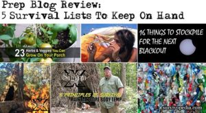 Prep Blog Review: 5 Survival Lists To Keep On Hand
