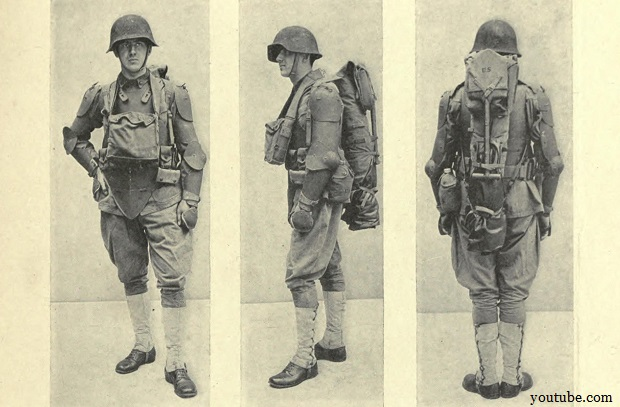 Experimental body armour from World War I