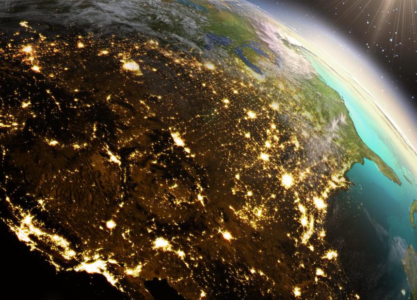 41771551 - planet earth north america zone.